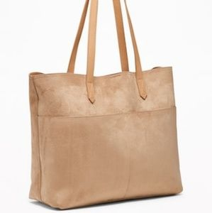 Old Navy/ Tan/ Faux Suede/ Tote Bag